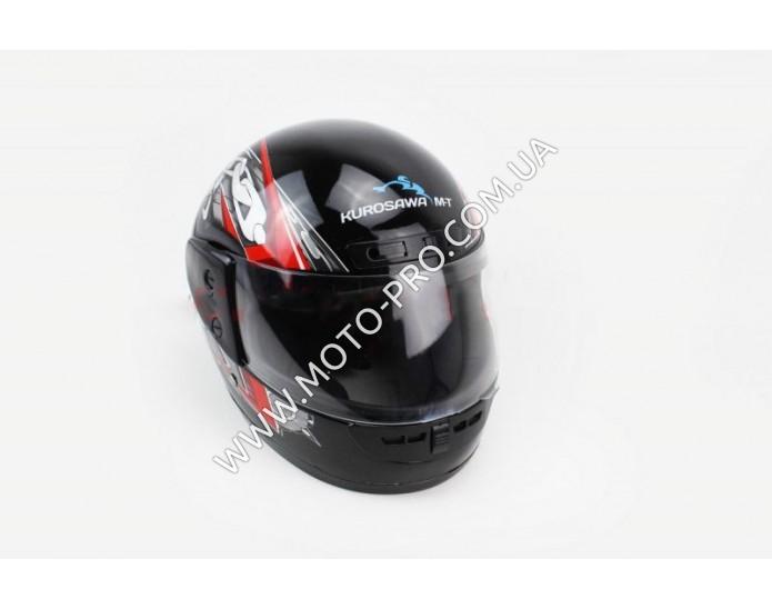 Шлем закрытый HF-101 S- ЧЕРНЫЙ с красно-серым рисунком Q23-R (330647)