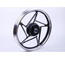 CB-125/150 - колесо заднее литое - черное (барабан. тор...