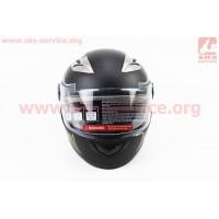 Шлем закрытый 830 XS- ЧЕРНЫЙ матовый с салатово-серым р...
