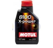 Масло автомобильное, 1л (синтетика, 10W-60, 8100 X-POWE...