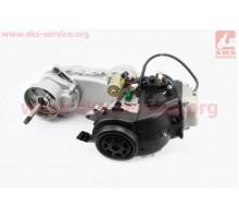 Двигатель скутерный в сборе 4Т-80куб (короткий вариатор...