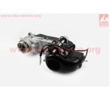 Двигатель скутерный в сборе 2Т (ременной) Yamaha-Storm5...