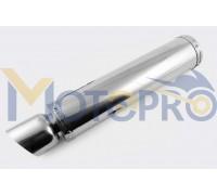Глушитель (тюнинг) 420*100mm, креп. Ø78mm (нержавейка, хром, без креплений, mod:59)