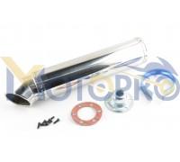 Глушитель (тюнинг) 420*100mm, креп. Ø78mm (нержавейка, хром, mod:2)