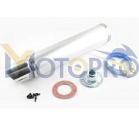 Глушитель (тюнинг) 420*100mm, креп. Ø78mm (нержавейка, хром, прямоток, mod:2)