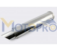 Глушитель (тюнинг) 420*100mm, креп. Ø78mm (нержавейка, хром, без креплений, mod:60)