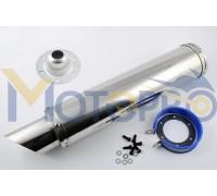 Глушитель (тюнинг) 420*100mm, креп. Ø78mm (нержавейка, хром) #5