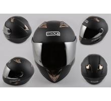 Шлем-интеграл (mod:B-500) (size:L, черный матовый) BEON