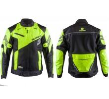 Мотокуртка SCOYCO (текстиль) (size:M, черно-зеленая, mo...