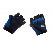Велоперчатки (черно-синие, size XL) AXE