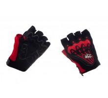Велоперчатки (черно-красные, size XL) AXE