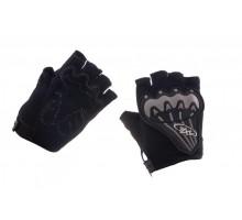 Велоперчатки (черно-грифель, size XL) AXE