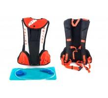 Рюкзак (черно-бело-оранжевый, зауженный) KTM
