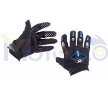 Перчатки RG (size:L, черно-синие)