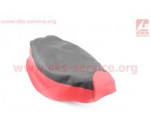 Чехол сиденья (эластичный, прочный материал) черный/кра...