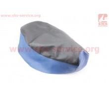 Чехол сиденья (эластичный, прочный материал) черный/син...