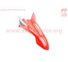 Loncin- LX200GY-3 пластик - Крыло переднее, КРАСНЫЙ