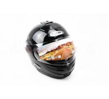 Шлем закрытый с откидным подбородком HF-108 M- ЧЕРНЫЙ г...