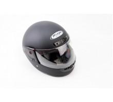 Шлем закрытый HF-101 S- ЧЕРНЫЙ матовый