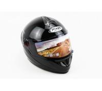 Шлем закрытый HF-122 L- ЧЕРНЫЙ глянец DOT