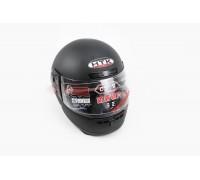 Шлем закрытый HK-221 - ЧЕРНЫЙ матовый + воротник (царапины, дефекты покраски)