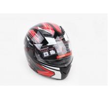 Шлем закрытый с откидным подбородком+очки BLD-157 S- ЧЕ...