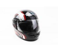 Шлем закрытый HF-101 S- ЧЕРНЫЙ с красно-серым рисунком Q233-R