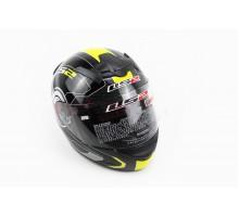 Шлем закрытый ROOKIE ATMOS FF352 XL - ЧЕРНЫЙ с рисунком...