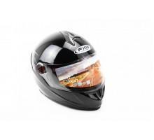 Шлем закрытый HF-122 XL- ЧЕРНЫЙ