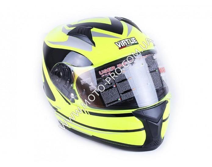 Шлем MD-FP02 салатовый size L - VIRTUE (HM-036)