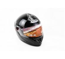 Шлем закрытый HF-122 L- ЧЕРНЫЙ глянец