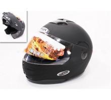 Шлем закрытый с откидным подбородком HF-108 M- ЧЕРНЫЙ м...