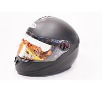 Шлем закрытый HF-122 L- ЧЕРНЫЙ матовый