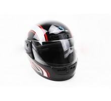Шлем закрытый HF-101 L- ЧЕРНЫЙ с красно-серым рисунком ...