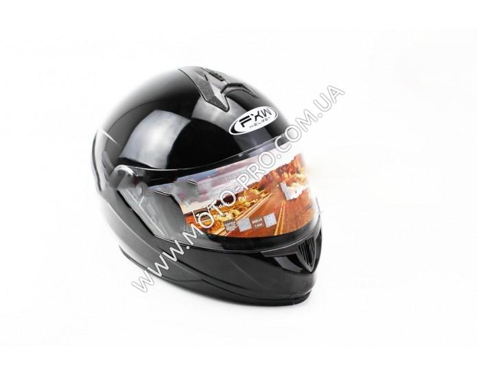 Шлем закрытый HF-122 M- ЧЕРНЫЙ глянец (330199)
