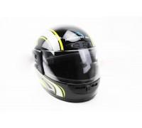 Шлем закрытый HF-101 S- ЧЕРНЫЙ с желто-серым рисунком Q233-Y