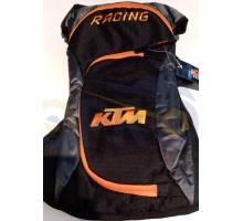 Рюкзак (черно-оранжевый, накладной карман) KTM
