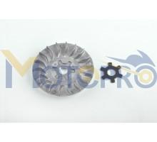 Щека вариатора неподвижная Yamaha JOG 50 (алюминий, d-1...